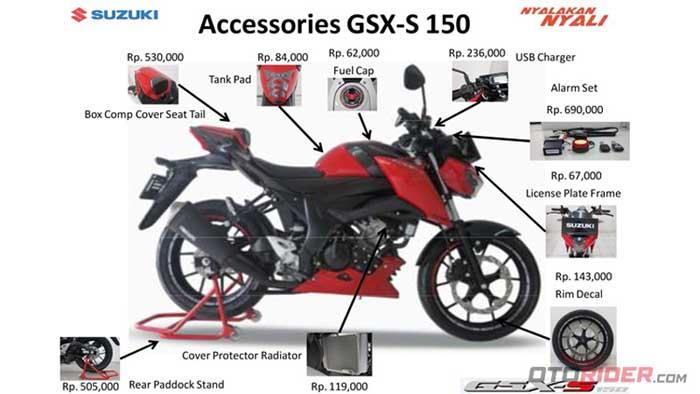 Harga Lengkap Aksesoris Suzuki Gsx S150 Cek It Out