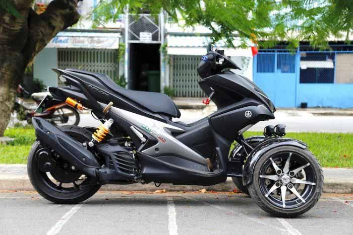 Modifikasi Yamaha Arox 2017 Roda Tiga Bak Piaggio Mp3